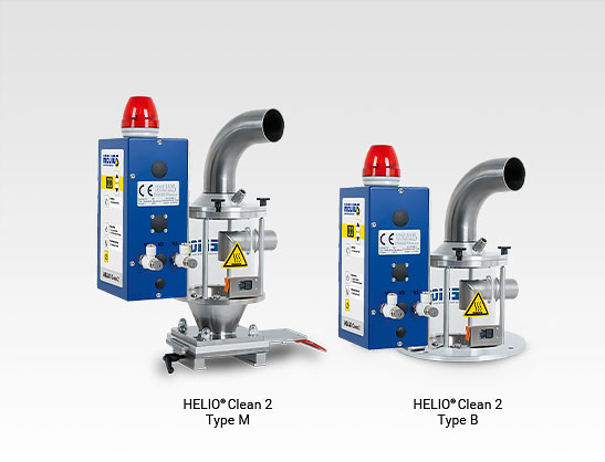 Compressed air conveyor with dedusting function - HELIO®Clean 2