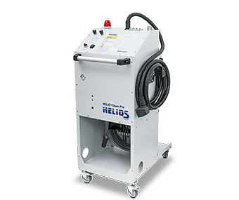 Control stand with vacuum generator and dust collection container