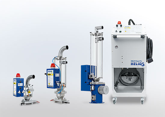HELIO®Clean dedusting devices for plastic granulate and regrind