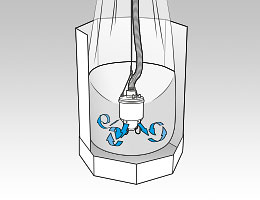 Fluidization function on the suction head for Oktomat® big bag and octabin discharging stations