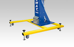 Movable frame for Oktomat® big bag and octabin discharging stations as pedestal version