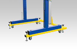 Movable frame for Oktomat® big bag and octabin discharging stations as portal version