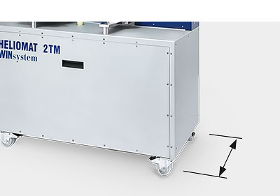 Minimal space requirement due to low construction depth of the HELIO®MAT plastic dryer station