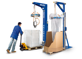 Oktomat® big bag and octabin discharging stations for bulk materials from Helios