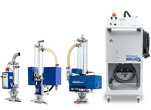 Helio®Clean granulate and regrind dedusting devices from Helios