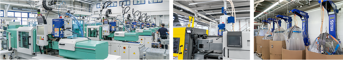 Helios Machinery and Equipment for material handling in plastics and chemical industry