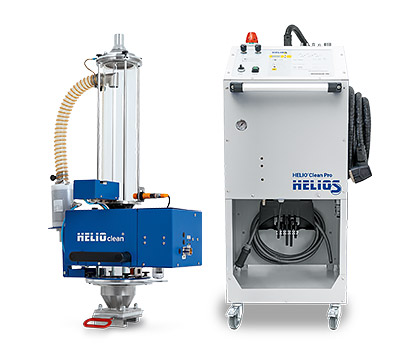 HELIO®Clean Pro 20 deduster with control stand